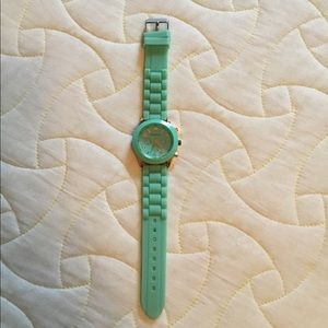 Geneva mint green jelly watch